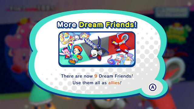 Kirby Star Allies Dream Friends Wave 2 Adeleine and Ribbon Dark Meta Knight Daroach in-game information
