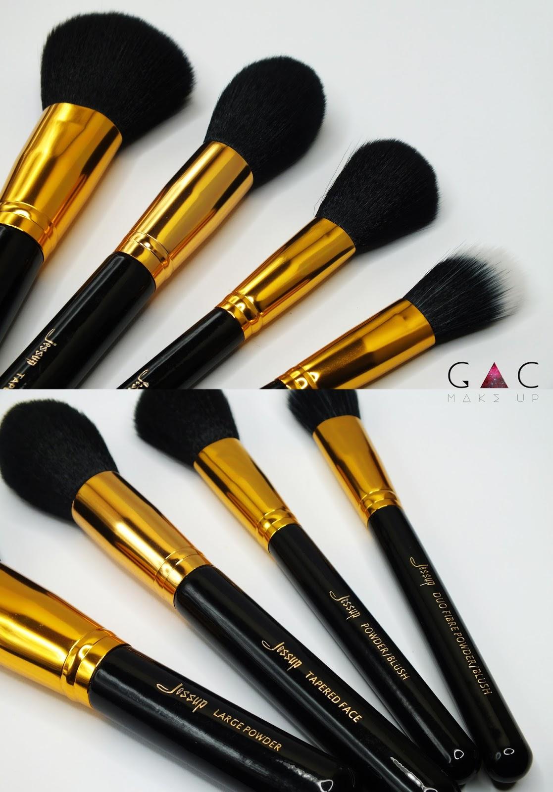 Zestaw 15 pędzli do makijażu Jessup Jessup 15PCS Black & Gold set