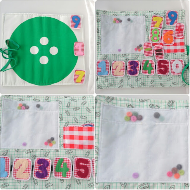 Learning to count with buttons