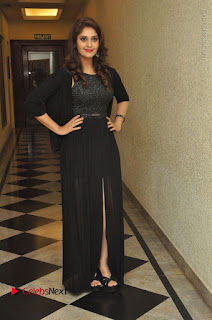 Actress Surabhi Stills in Black Long Dress at turodu Audio Launch  0104.JPG