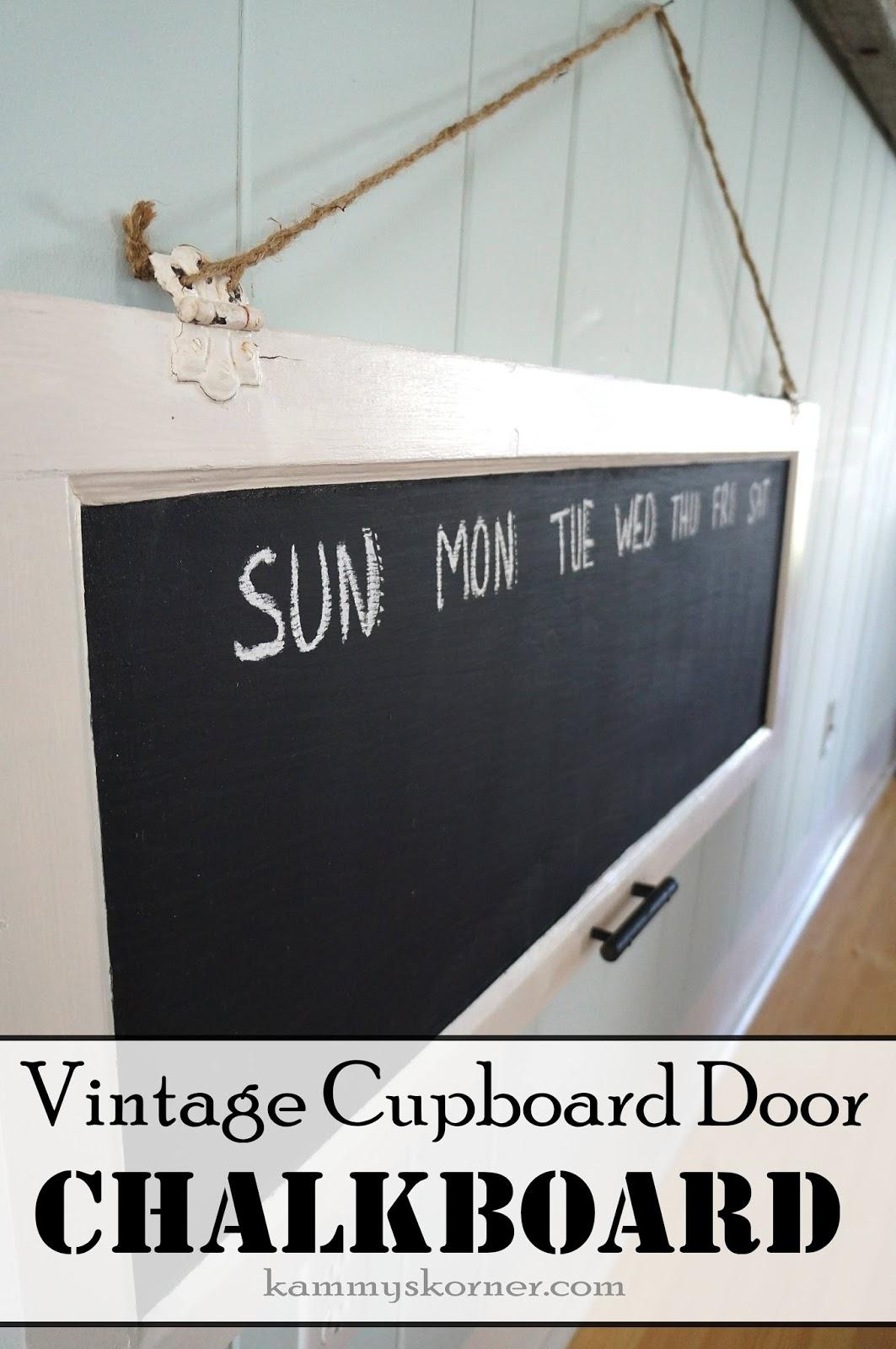 Antigue Door Chalkboard : Kammy s korner hinges and handles chalkboard paint