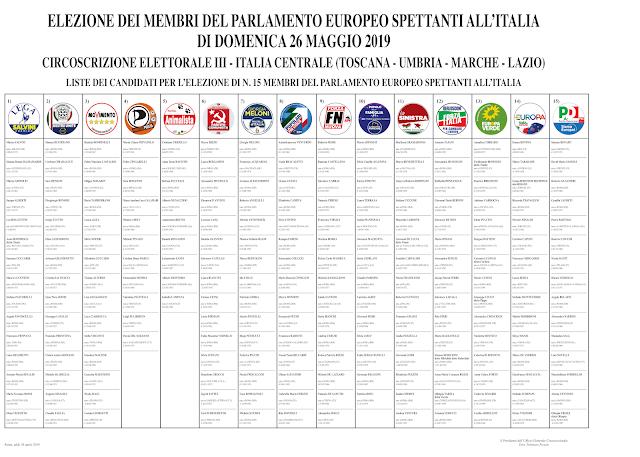 Risultati immagini per manifesto circoscrizione III europee 2019
