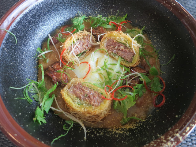 Short Ribs Congee, Veal Sweetbreads