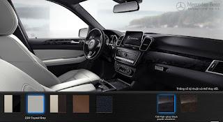 Nội thất Mercedes GLE 400 4MATIC Exclusive 2016 màu Xám Crystal 228