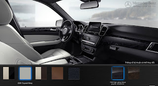Nội thất Mercedes GLE 400 4MATIC Exclusive 2019 màu Xám Crystal 228