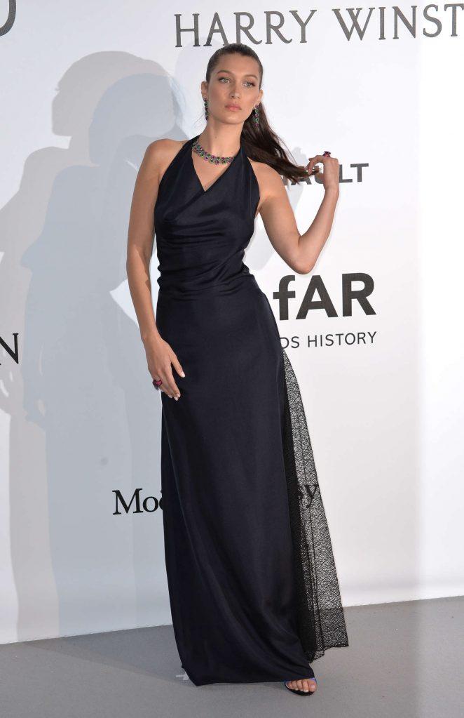 Bella Hadid wears chic Dior to the amfAR Gala in Cannes