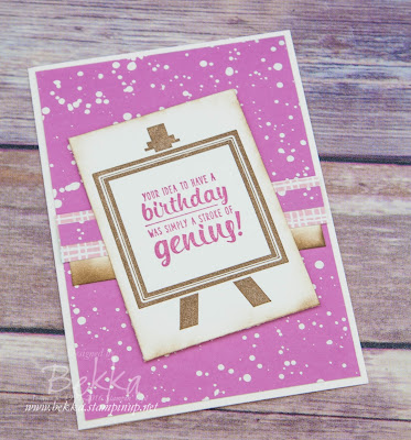 Sweet Sugarplum Painters Pallet Birthday Card made using products from Stampin' Up! UK - buy Stampin' Up! UK here