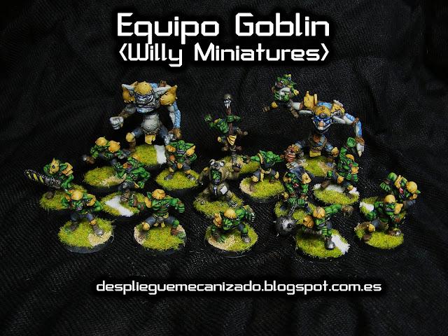 Imagen de las miniaturas del equipo goblin