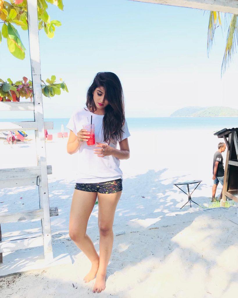 Varshini Sounderajan in Red Bikini Stunning Unseen Pics
