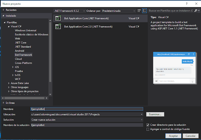 Bot en Visual Studio