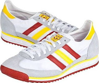 Red Yellow White Adidas SL-72 Trainers