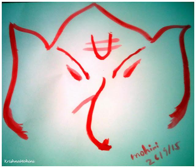 Image: Vighnaharta Lord Ganesha Artwork Drawn by Both Hands