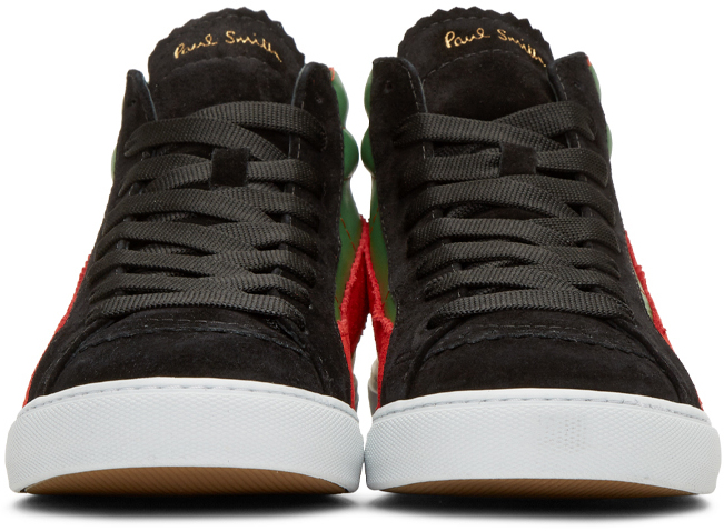 green the red the gold paul smith multicolor lynn high top sneakers. Black Bedroom Furniture Sets. Home Design Ideas