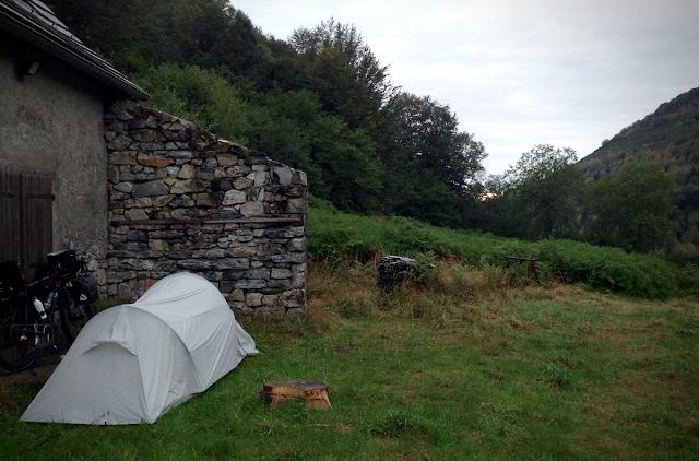 wild camping mountain campsite
