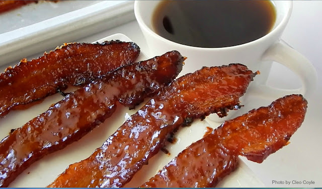 ... Bacon with Maple-Espresso Glaze plus a Special Giveaway from Cleo