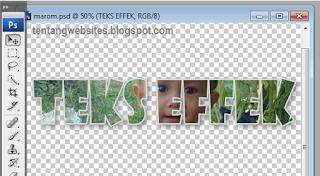 cara membuat background teks effek di photoshop