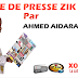 Revue de presse (Wolof) Zik fm du Lundi 24 septembre 2018 par Ahmed Aidara