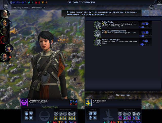Civilization: Beyond Earth  | Diplomacy Screenshot