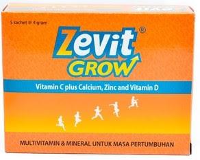 Harga Zevit Grow Peninggi Badan Efektif Terbaru 2017