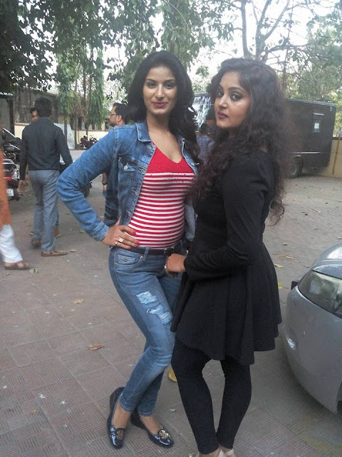 Anjana Singh, Poonam Dubey at the 'Son Of Bihar' Muhurat.