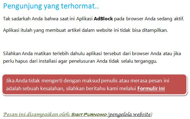 Anti AdBlock terbaru 2016 mudah, cepat, seo friendly