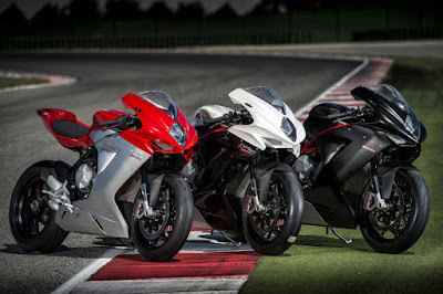 MV Agusta F3 800 three colours