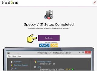 Install dan jalankan aplikasi Speccy untuk mengetahui spesifikasi komputer