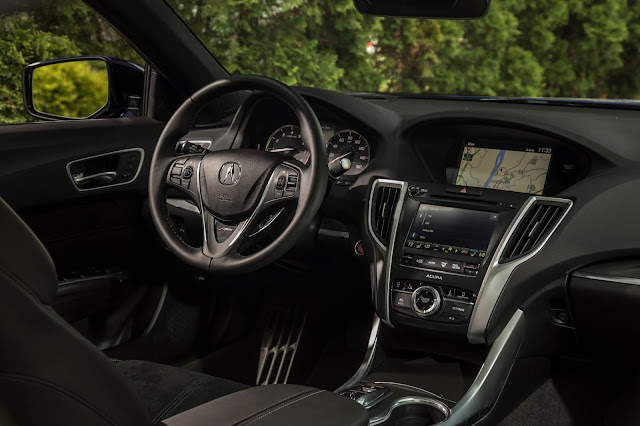 Interior view of 2018 Acura TLX 3.5 L AWD