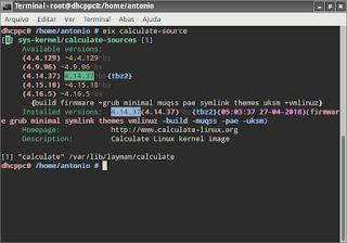 Linux Calculate modificar kernel qual necessidade