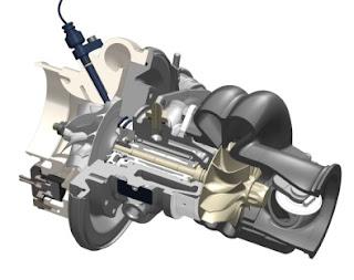 turbocompressore con sensore giri in posizione
