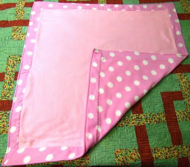 Mistress Of Quilts: Self-Binding Fleece Baby Quilt
