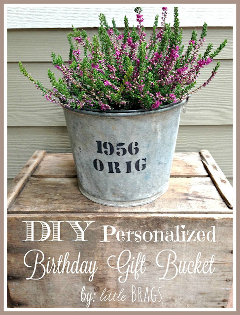 Purchased Another Galvanized Bucket Which One Can Never Have Enough Oflol Once I Got Home Stenciled Her Birth Year Onto The