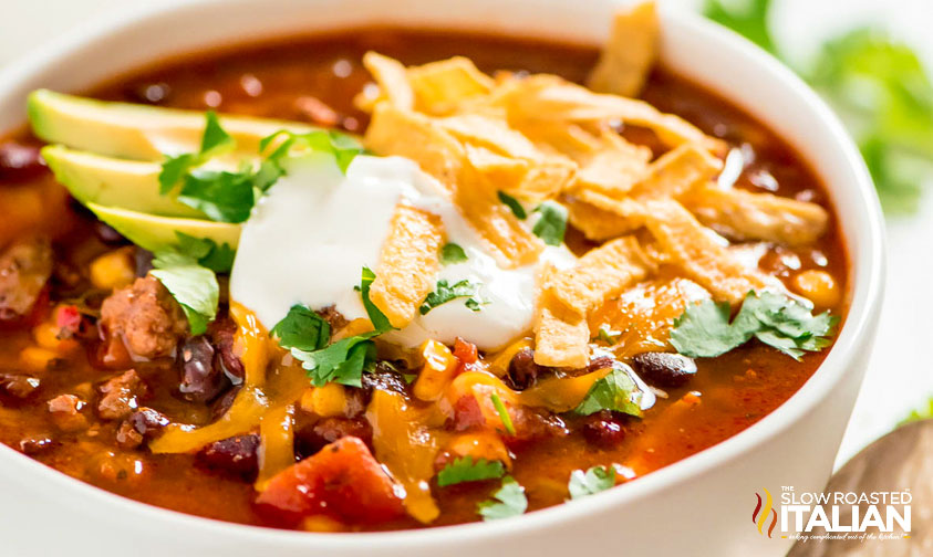 Slow Cooker Taco Soup (With VIDEO)