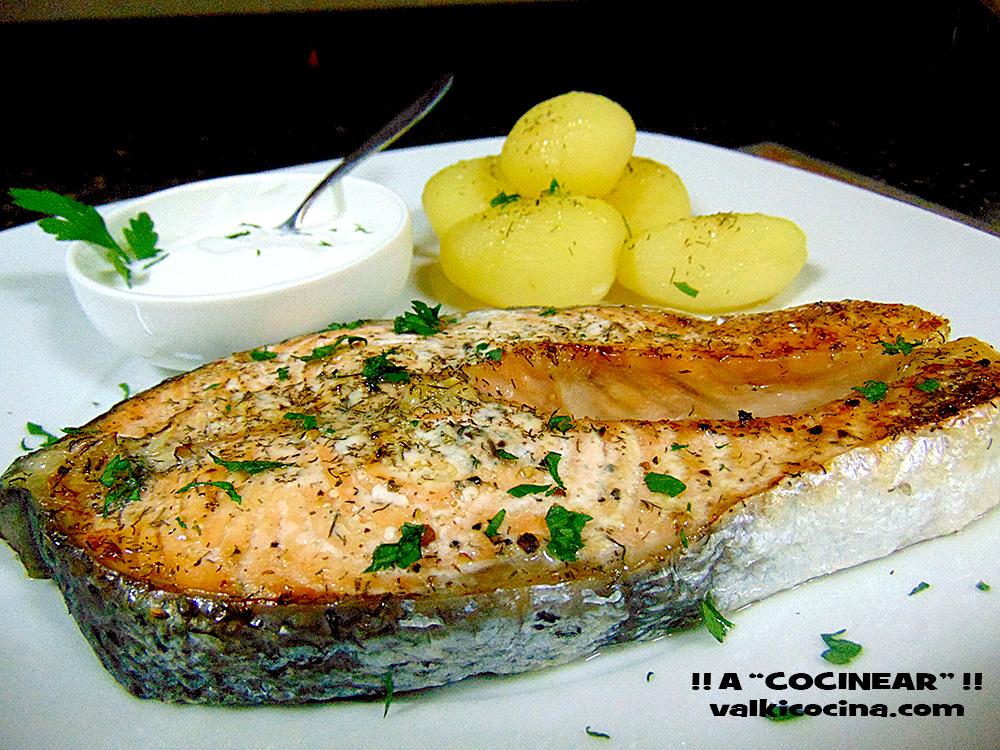 Salm n al horno f cil a cocinear recetas - Formas de cocinar salmon ...