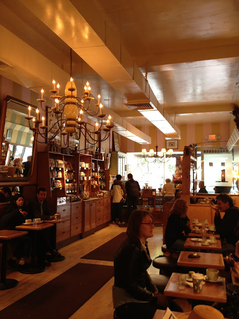 The interior of L.A. Burdick - Homemade Chocolate in Harvard Square Cambrdige, MA