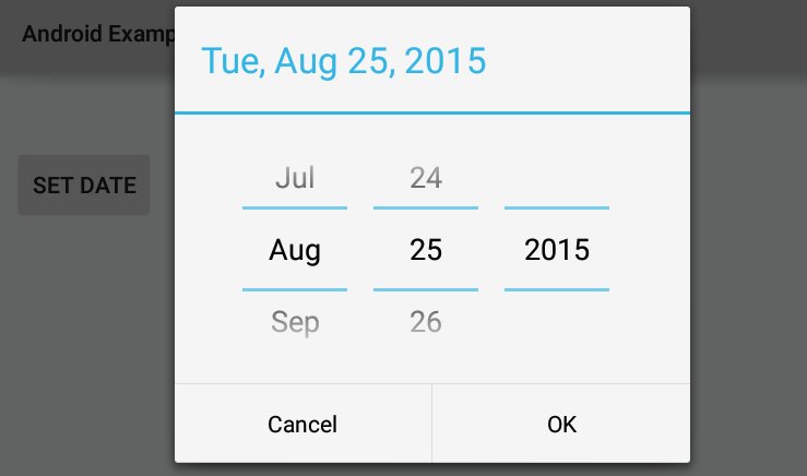 How to set DatePickerDialog max date and min date in Android