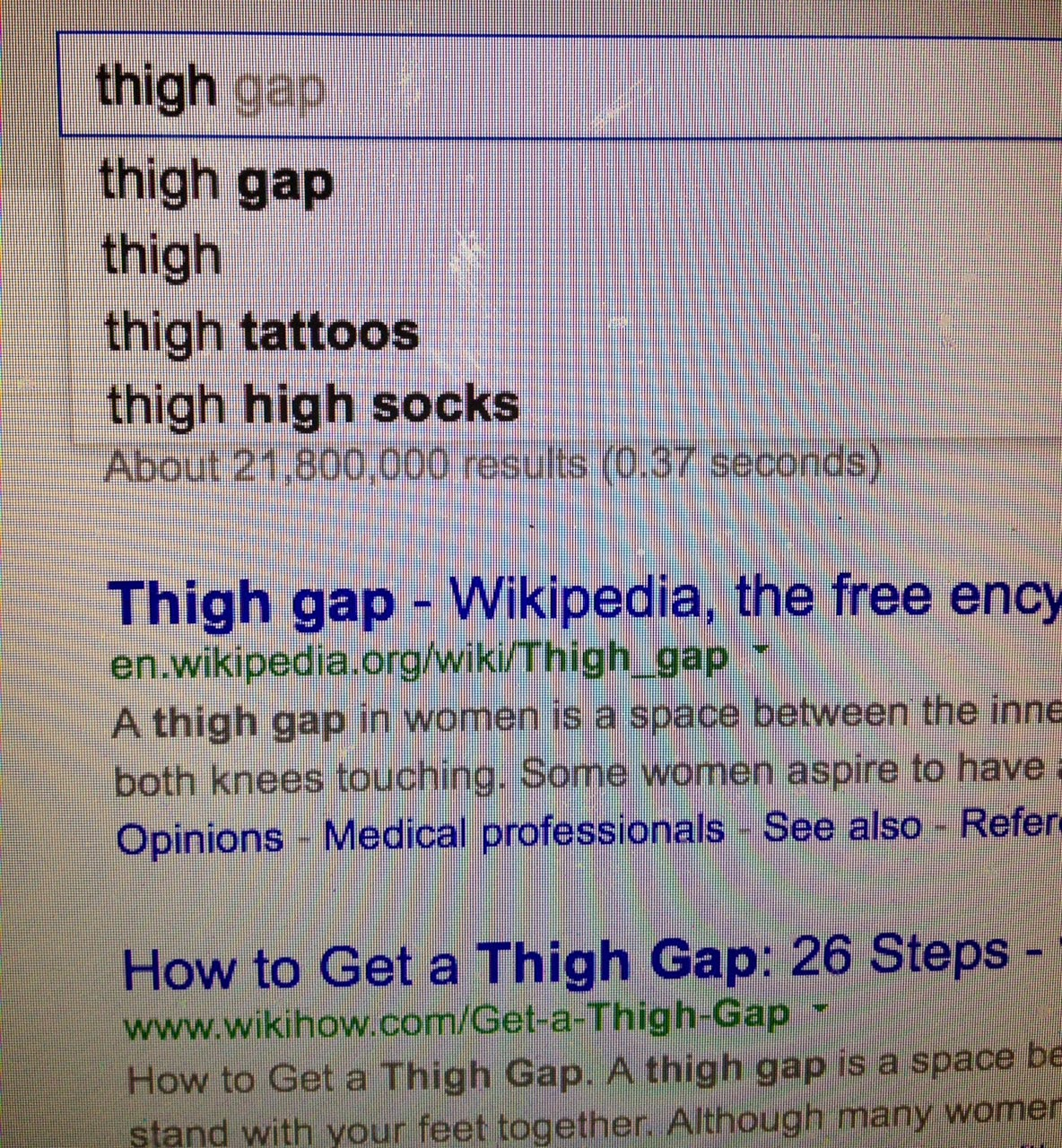 This Thigh Gap Thing Is Bonkers Of Sugar Baited Words