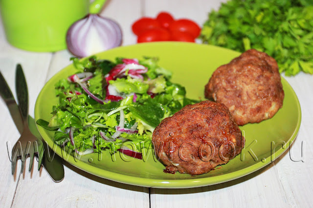 рецепт сочных мясных котлет в духовке