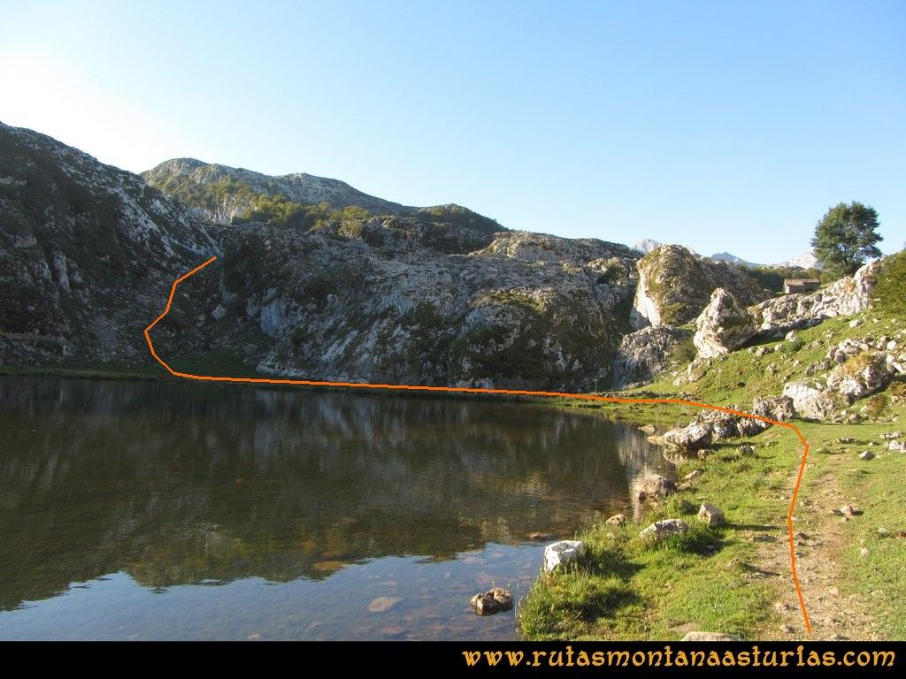 Ruta Ercina, Verdilluenga, Punta Gregoriana, Cabrones: Atravesando Ercina