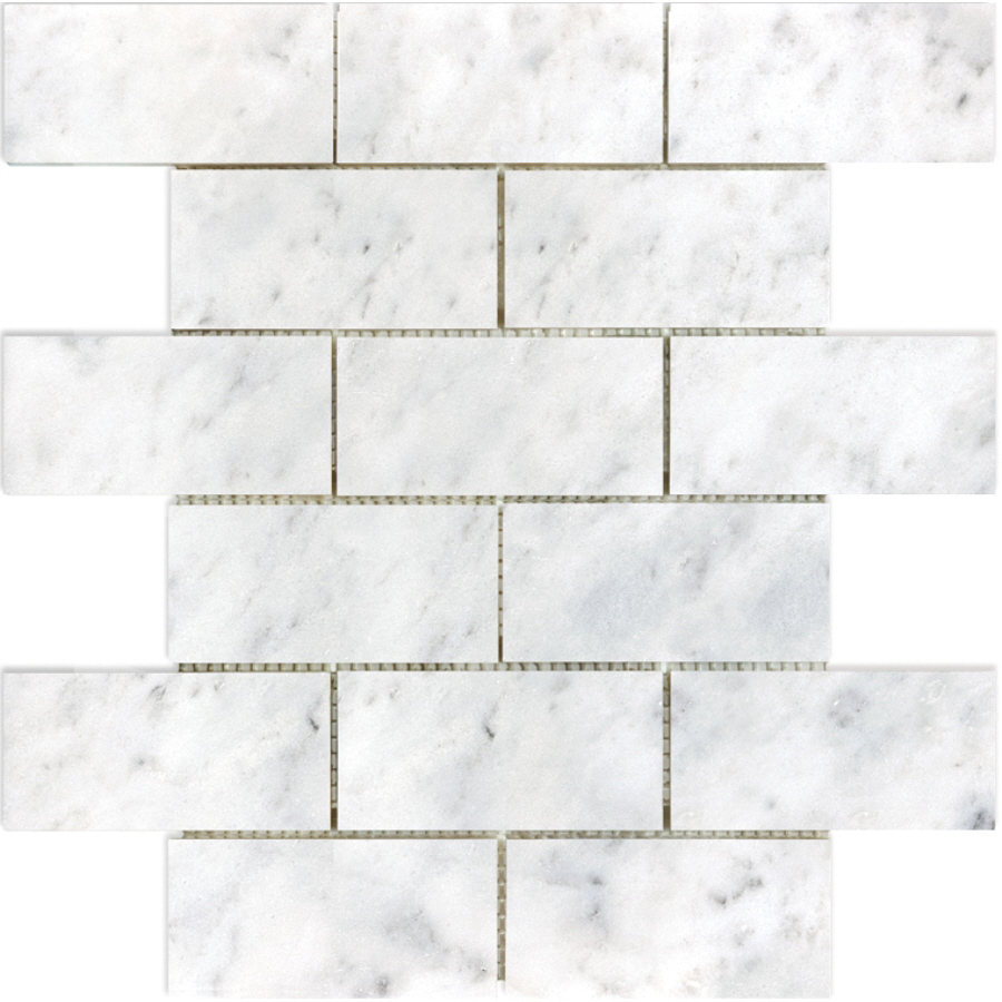 Polished Venatino Marble Subway Mosaic Tile