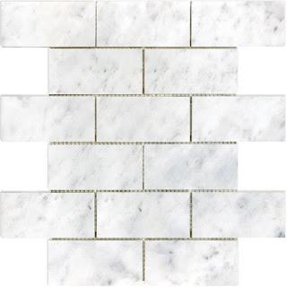 Polished Venatino Marble Subway Mosaic Tile