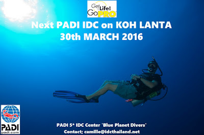 Next PADI IDC on Koh Lanta, Thailand starts 30th March