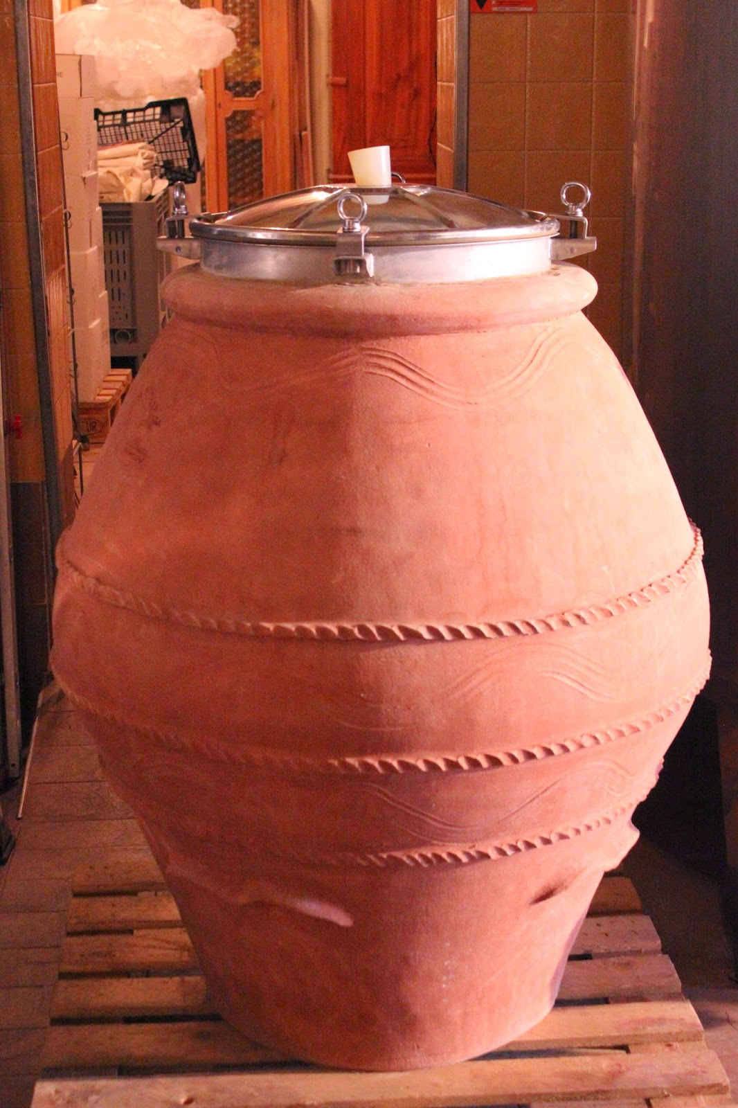 Clay amphora winemaking at Corte Sant'Alda