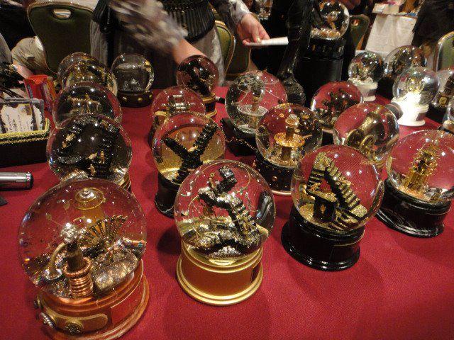 custom made Steampunk Snow Globes