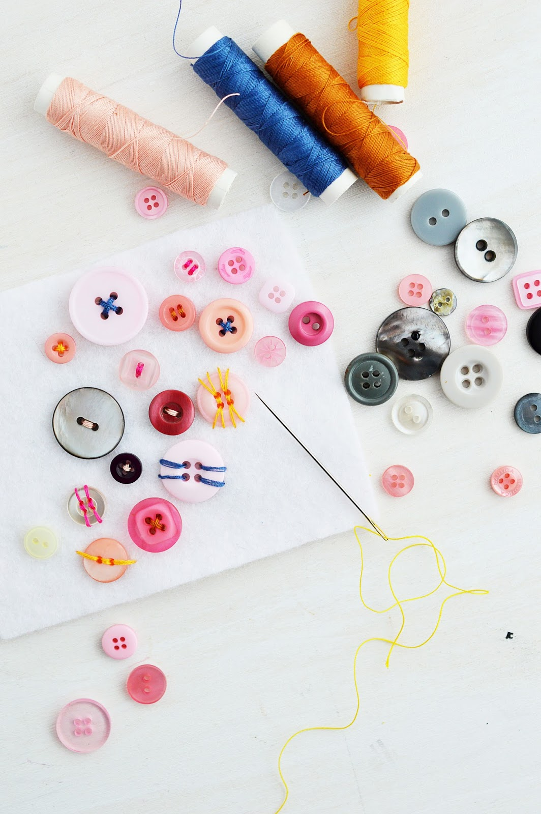 How To Sew On A Button | Motte's Blog