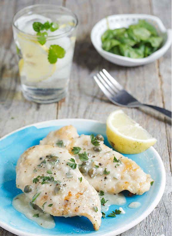 Healthy Chicken Piccata with Capers