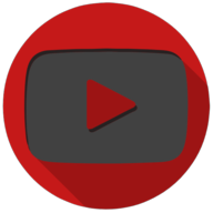 youtube colorful button