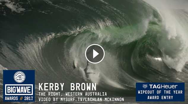 Kerby Brown at The Right - 2017 TAG Heuer Wipeout of the Year Entry - WSL Big Wave Awards