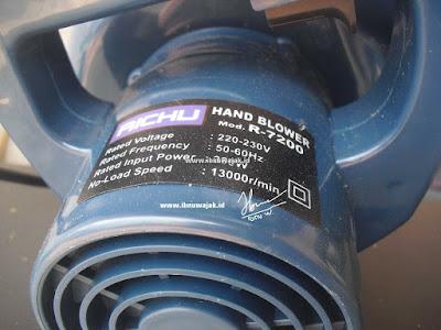 spesifikasi hand blower richu r-7200