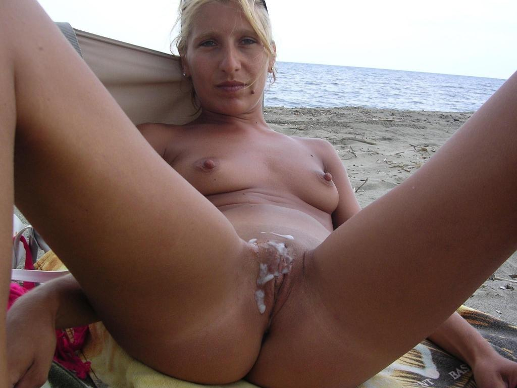 Beach group sex cum